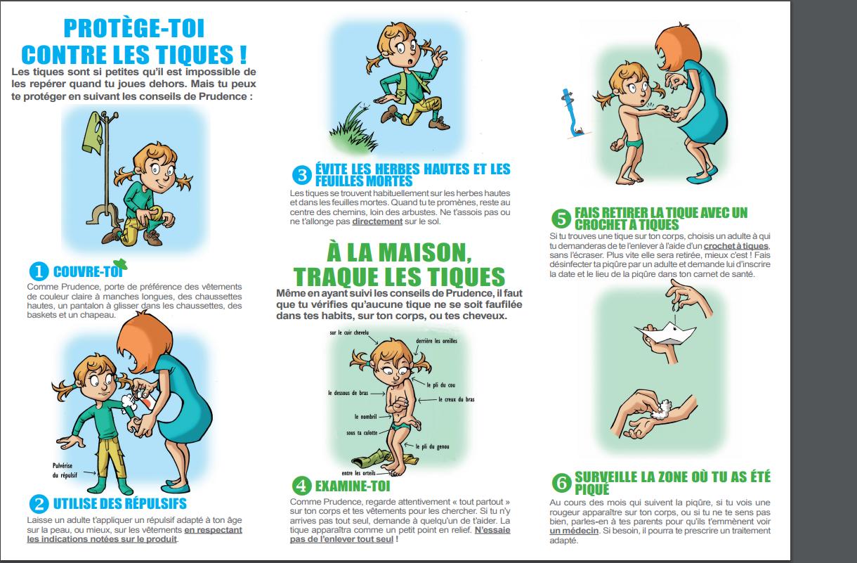 Les conseils de prudence la tactique anti tiques depliant 2017 enfants